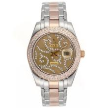 Replique Rolex Masterpiece automatique II Deux Tone Diamond Bezel Dial avec diamant or 24778