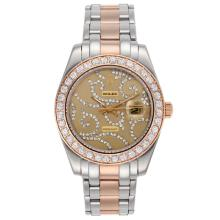 Replique Rolex Masterpiece automatique II Deux Tone Diamond Bezel Dial avec diamant or 24764