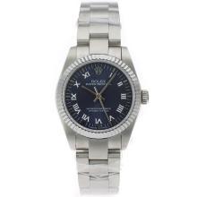 Replique Rolex Air-King Swiss ETA 2836 Mouvement marqueurs romains avec cadran S / S-Mid Blue Taille - Belle Rolex Air King 20019 montre pour vous