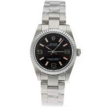 Replique Rolex Oyster Perpetual Air-King Swiss ETA 2836 Mouvement avec cadran S / S-Mid Noir Taille - Attractive Rolex Air King 20015 montre pour vous