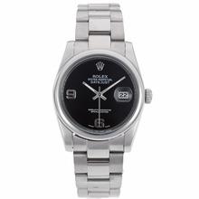 Replique Rolex Datejust automatique avec cadran noir S / S - Montre Rolex DateJust attrayant pour vous 20363