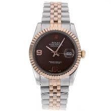 Replique Rolex Datejust automatique Two Tone avec cadran brun - Attractive montre Rolex DateJust pour vous 20360