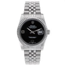 Replique Rolex Datejust automatique avec cadran noir S / S - Montre Rolex DateJust attrayant pour vous 20359