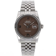 Replique Rolex Datejust automatique avec cadran brun S / S - Montre Rolex DateJust attrayant pour vous 20358