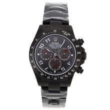 Replique Rolex Daytona Chronographe Suisse Valjoux 7750 Mouvement complète des marqueurs Nombre PVD avec cadran gris Rolex Daytona - Montres attrayant pour vous 23235