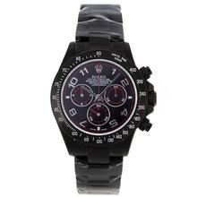 Replique Rolex Daytona Chronographe Suisse Valjoux 7750 Mouvement complète des marqueurs Nombre PVD avec cadran noir Rolex Daytona - Montres attrayant pour vous 23229