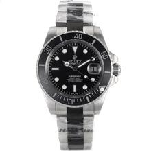 Replique Rolex Submariner automatique PVD Lunette Bracelet en céramique avec cadran noir-verre de saphir - Attractive montre Rolex Submariner 25042 pour vous