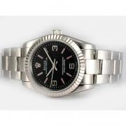 Replique Rolex Air-King huîtres automatique perpétuel cadran noir 14608