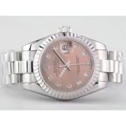 Replique Rolex Datejust eta suisse 2836 or pleine vadrouille cadran avec le marquage des diamants - de taille moyenne 9531
