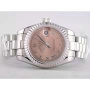 Replique Rolex Datejust eta suisse 2836 plein mouvement or rose avec cadran champagne-de taille moyenne ou 9724