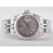 Replique Rolex Datejust eta suisse 2671 le mouvement avec la lumière bleue dial-marquage des diamants taille dame 10355