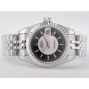 Replique Rolex Datejust eta suisse 2671 avec le mouvement cadran noir-romaine marquage taille dame 10423