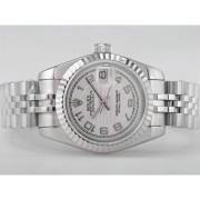 Replique Rolex Datejust eta suisse 2671 avec le mouvement dial-stick/number marquage blanc taille dame 10428