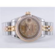 Replique Rolex Datejust eta suisse 2671 le mouvement avec la taille de cadran dame noire 10474