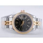 Replique Rolex Datejust eta suisse 2671 le mouvement avec cadran argenté le marquage des diamants taille dame 10476