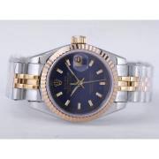 Replique Rolex Datejust eta suisse 2671 le mouvement avec la lumière bleue-romaine ligne marquant la taille dame 10480