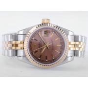 Replique Rolex Datejust eta suisse 2671 le mouvement avec une vadrouille dial-romains marquant la taille dame 10481