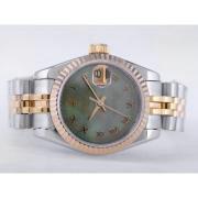 Replique Rolex Datejust eta suisse 2671 avec cadran argenté mouvement du bâton de marquage taille dame 10493