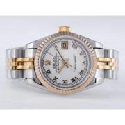 Replique Rolex Datejust eta suisse 2671 le mouvement avec la lumière bleue dial-marquage des diamants taille dame 10494