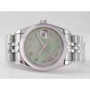 Replique Rolex Datejust eta suisse 2671 le mouvement à deux tons avec une vadrouille dial-marquage des diamants taille dame 10526