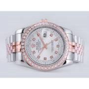 Replique Rolex Datejust eta suisse 2671 le mouvement à deux tons avec cadran bleu-marquage des diamants taille dame 10524