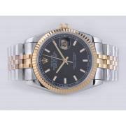 Replique Rolex Datejust eta suisse 2836 Mouvement cadran bleu-adhésive de marquage 10843