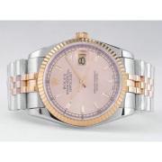 Replique Rolex Datejust eta suisse 2836 Mouvement à cadran rose-adhésive de marquage 10835