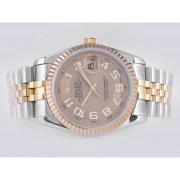 Replique Rolex Datejust eta suisse 2836 Mouvement cadran bleu numéro de marquage 10848