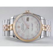 Replique Rolex Datejust eta suisse 2836 avec cadran argenté mouvement du bâton de marquage 10851