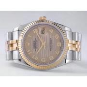 Replique Rolex Datejust eta suisse 2836 Mouvement cadran gris-marquage des diamants 10845
