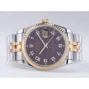 Replique Rolex Datejust eta suisse 2836 Mouvement rouge dial-marquage des diamants 10854