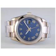 Replique Rolex Datejust eta suisse 2836 le mouvement à deux tons avec cadran blanc-marquage des diamants 10918