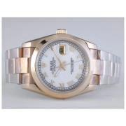 Replique Rolex Datejust eta suisse 2836 le mouvement à deux tons avec cadran blanc-marquage des diamants 10919