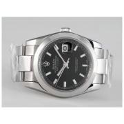 Replique Rolex Datejust eta suisse 2836 avec le mouvement à deux tons gris dial-number/stick marquage 10929