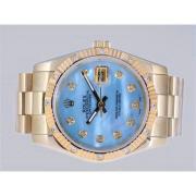 Replique Rolex Datejust Swiss ETA 2836 Mouvement de noir lunette perle noire dial-ruby 11175