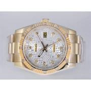 Replique Rolex Datejust eta suisse 2836 Mouvement lunette noire rubis avec cadran blanc-marquage des diamants 11184
