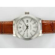 Replique Rolex Datejust automatique avec cadran blanc nouvelle version 15719