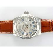 Replique Rolex Datejust automatique avec cadran argenté nouvelle version 15720