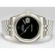 Replique Rolex Datejust automatique avec cadran noir 15894