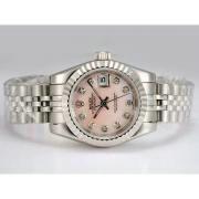 Replique Rolex Datejust rose vadrouille ligne automatique avec le marquage des diamants 15898