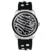 Replique Rolex Datejust eta suisse 2671 circulation deux marqueurs romain ton avec cadran noir s s-dame taille / 7548