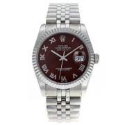 Replique Rolex Datejust Swiss ETA 2671 marqueurs romaine mouvement avec cadran blanc s s-dame taille / 7551