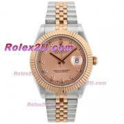 Replique Rolex Datejust II eta suisse 2836 Mouvement deux marqueurs de diamants avec cadran ton champagne 2044