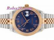 Replique Rolex Datejust II automatique de deux marqueurs romain ton avec cadran bleu 2211