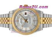 Replique Rolex Datejust II automatique de deux marqueurs numéro de sonorité avec cadran argenté 2390