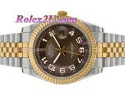 Replique Rolex Datejust II automatique de deux marqueurs numéro de sonorité avec cadran brun 2393
