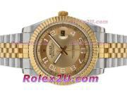 Replique Rolex Datejust II automatique de deux marqueurs numéro de sonorité avec cadran or 2394