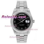 Replique Rolex Day-Date II eta suisse 2836 a augmenté de mouvement complet marqueurs en bâton d'or avec cadran brun 18410