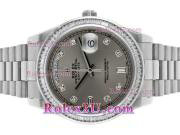 Replique Rolex Day-Date II eta suisse 2836 plein mouvement or rose cz lunette index diamants diamants avec cadran noir vadrouille 1108