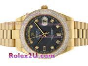 Replique Rolex Day-Date II eta suisse 2836 Mouvement diamant cz lunette avec cadran blanc 1888